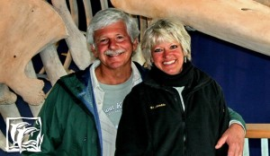 Doug & Robin in front of a Grey Whale exhibit.