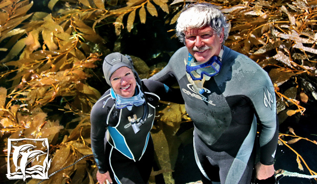 Robin Kobaly & Doug Thompson Snorkeling in the Channel Islands